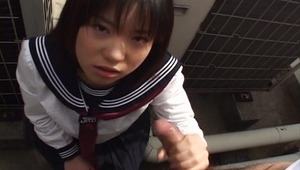 Here we got this really cute Asian teen for you Rino Sayaka looking extremely fine like always and you will be seeing her being a really naughty girl where she wastes no time at all and you will be seeing her getting down on her knees in a POV where she s