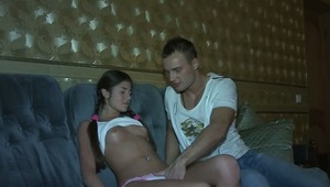 You are going to watch hot amateur porn video with teens. It is obvious that teen sex is the most exciting thing to watch. Look at this fascinating brunette bitch with two pigtails. She caresses her tits in anticipation of sucking a stiff cock. The boy fu