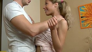 Stephanie is a very cute teen in a short skirt, tank top and sweet sneakers on her feet. Firstly she will stretch her butthole to prepare it for hard fucking, and then she will give head to her boyfriend and he almost immediately will slide his cock into