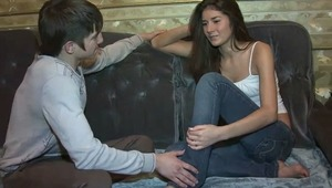 Slim teen came to visit her pen pal with whom she communicated for some time. At first she decided to see the city and to come to the flat of her friend with many impressions. To her pleasure, he was more interested in fucking her tight holes than in talk
