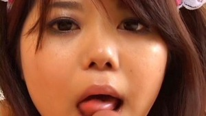 Shy and cute Japanese Maid gets her tight Asian pussy deeply fucked by her master