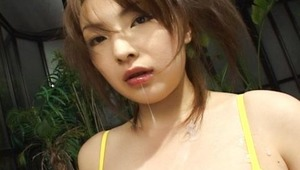 Manami Sekino has great looking breasts! What's more is that she has a strong desire to please her man. This is clearly seen in the way she gives her man a blowjob. She takes her time with a handjob before moving to the blowjob. And she is not shy about m