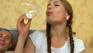 This pigtailed teen babe is really cute and sweet. Look at this beautiful redhead chick ready to give her sweet and tasty pussy to her horny boyfriend to get her clit licked and sucked. After this hot pussy-licking, Aurelia takes his cock and gives her bo
