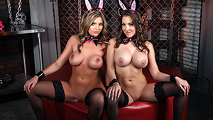 Mr. Strong produces the best bunnies on the planet. Brianna and Kiera's tails and tits are twitching, and they're ready to play! John Strong is going to whip these giggling girlies into shape, and make this Easter the best one yet! Hop to it!